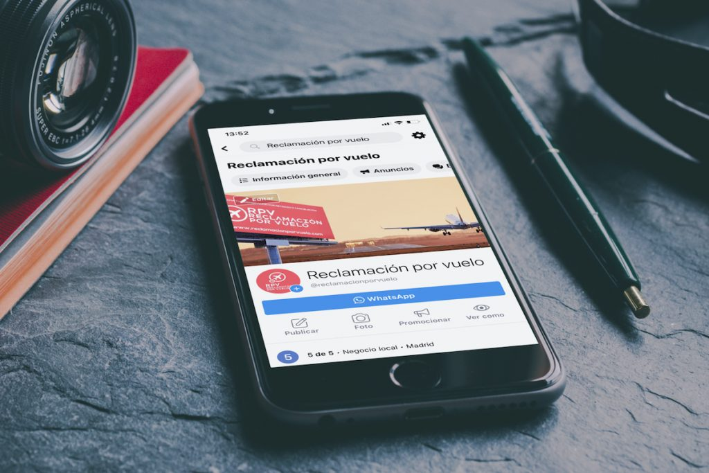 reclamación por vuelo eléctrico comunicación gestionaremos de redes sociales marketing online Andalucía